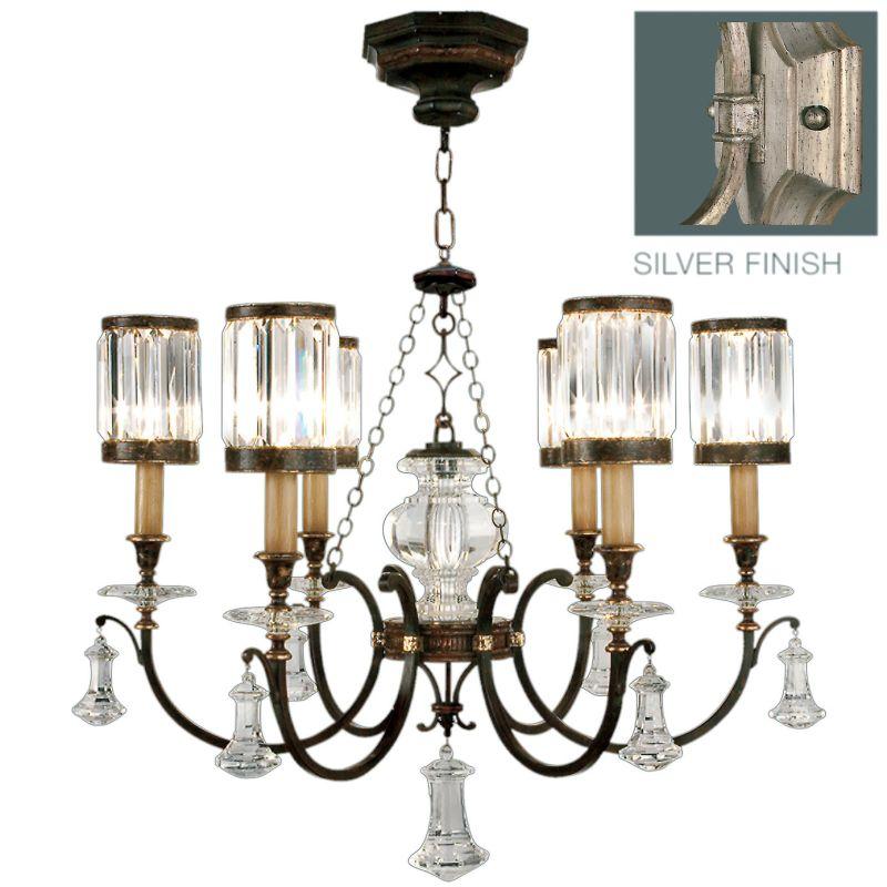 Fine Art Lamps 595440-2ST Eaton Place Silver Six-Light Single-Tier