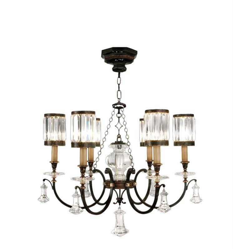 Fine Art Lamps 595440ST Eaton Place Six-Light Single-Tier Chandelier