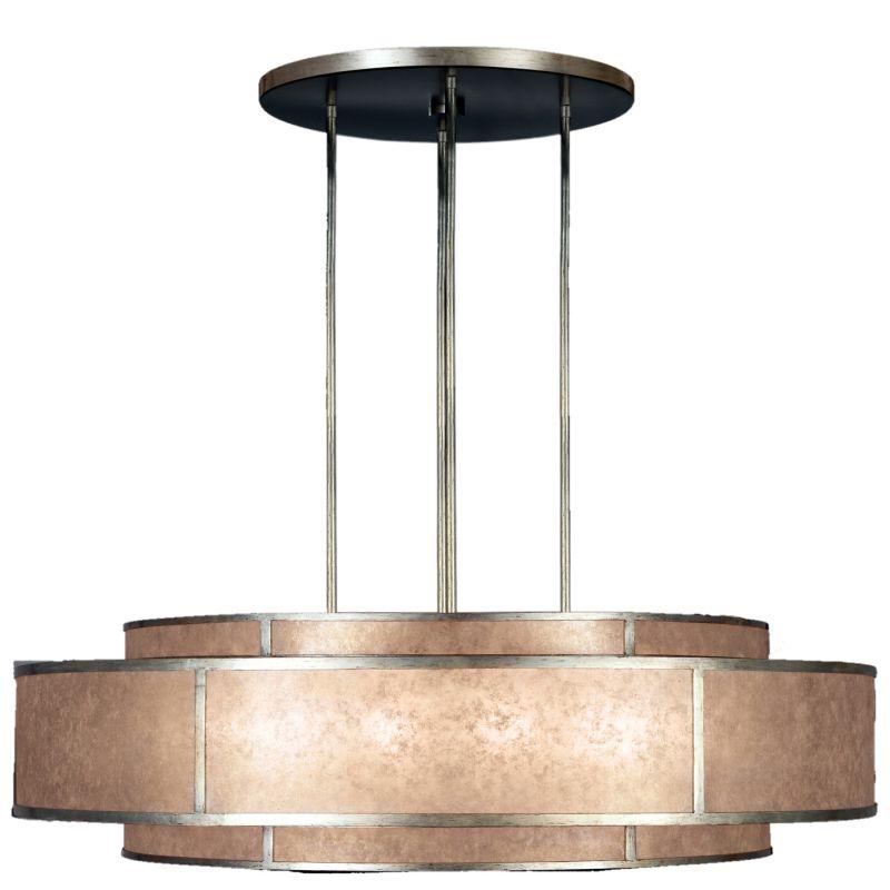 "Fine Art Lamps 600140-2ST Singapore Moderne Silver 60"" Diameter"