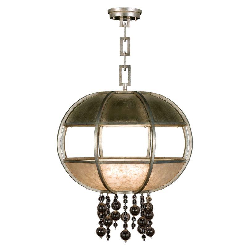 "Fine Art Lamps 600240-2ST Singapore Moderne Silver 31"" Diameter"