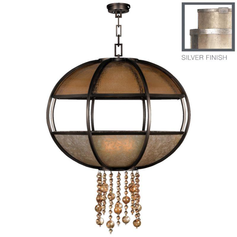 "Fine Art Lamps 600340-2ST Singapore Moderne Silver 42"" Diameter"