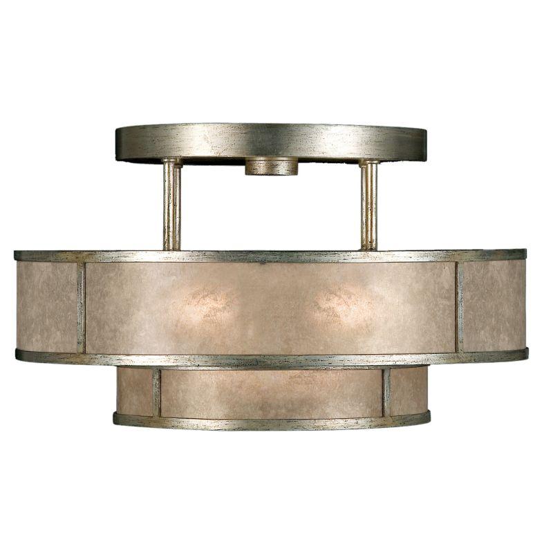 "Fine Art Lamps 600940-2ST Singapore Moderne Silver 24"" Diameter"