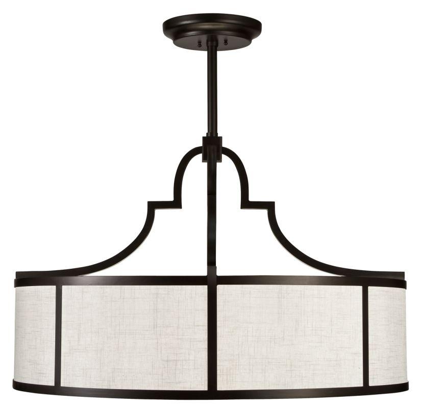 """Fine Art Lamps 601840-6ST Black+White Story 48"""" Diameter Eight-Light"""