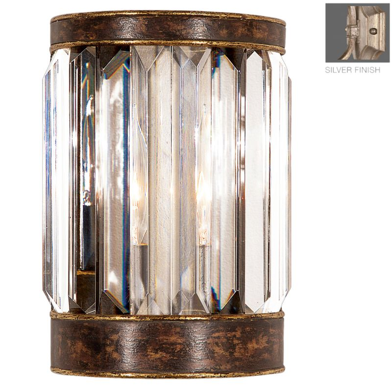 Fine Art Lamps 605450-2ST Eaton Place Silver Single-Light Wall Sconce