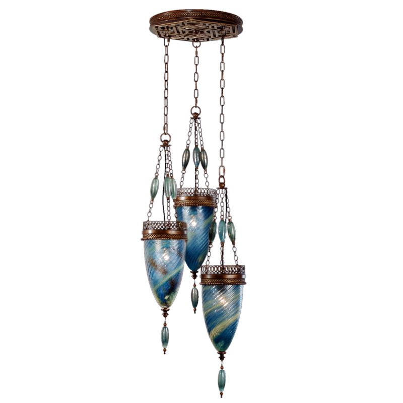 Fine Art Lamps 608640-3ST Scheherazade Three-Light Multi-Light Pendant