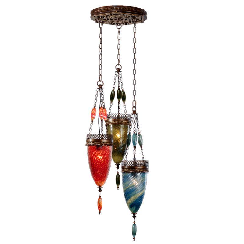 Fine Art Lamps 608640-7ST Scheherazade Three-Light Multi-Light Pendant