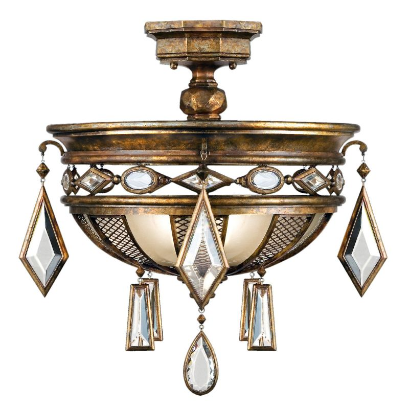 "Fine Art Lamps 711440-1ST Encased Gems 21"" Diameter Three-Light"