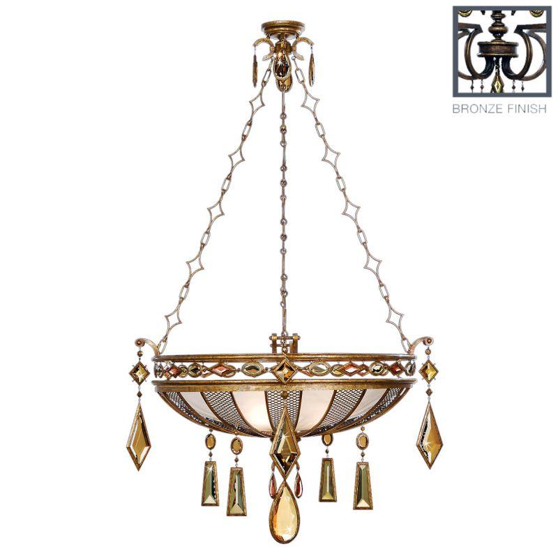 """Fine Art Lamps 712240-1ST Encased Gems 35"""" Diameter Three-Light Bowl"""