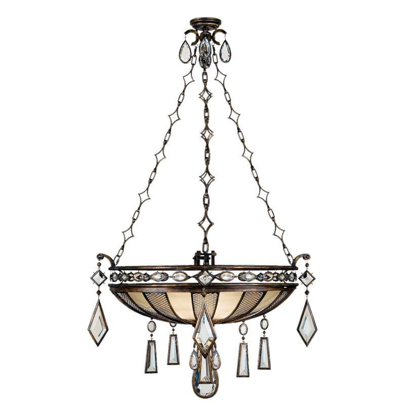 """Fine Art Lamps 712240-3ST Encased Gems 35"""" Diameter Three-Light Bowl"""