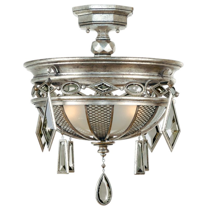 "Fine Art Lamps 727140-3ST Encased Gems 21"" Diameter Three-Light"