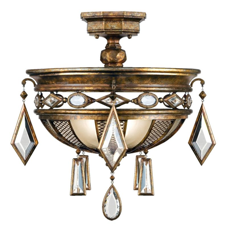 "Fine Art Lamps 727240-3ST Encased Gems 21"" Diameter Three-Light"