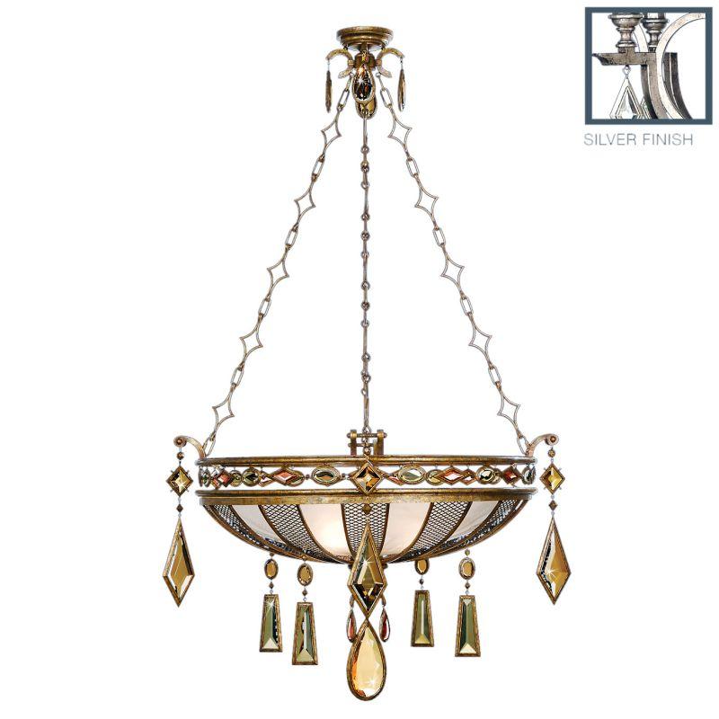 """Fine Art Lamps 728540-1ST Encased Gems 35"""" Diameter Three-Light Bowl"""