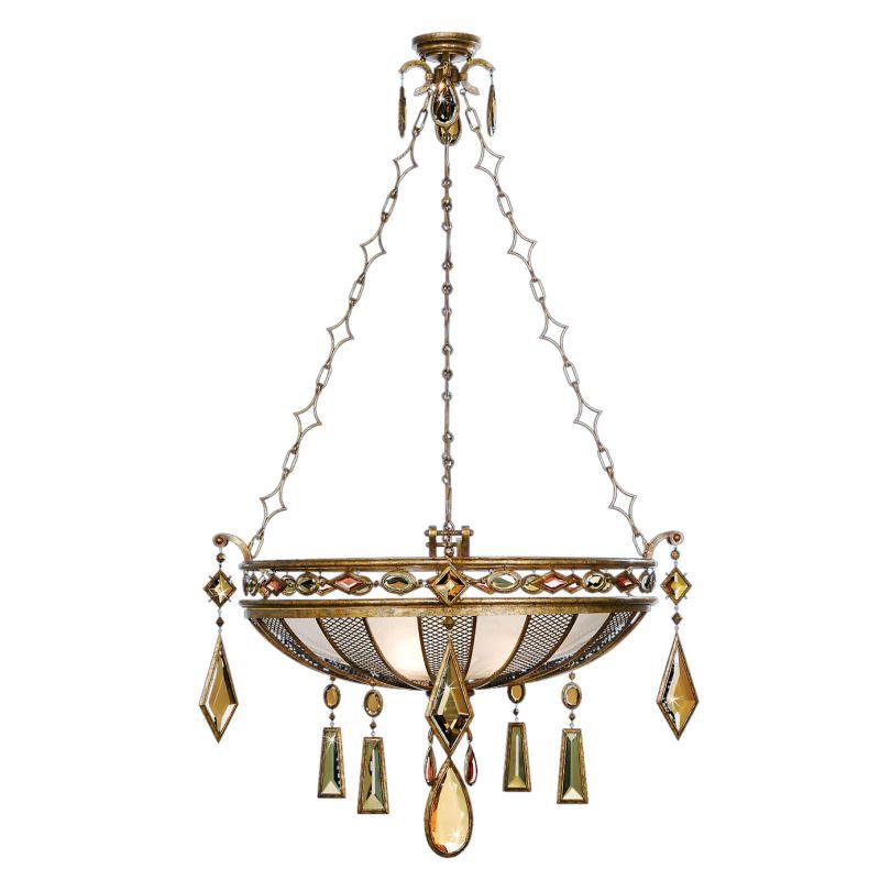 """Fine Art Lamps 728640-1ST Encased Gems 35"""" Diameter Three-Light Bowl"""