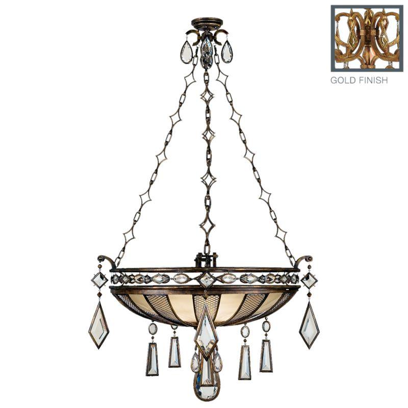 """Fine Art Lamps 728640-3ST Encased Gems 35"""" Diameter Three-Light Bowl"""