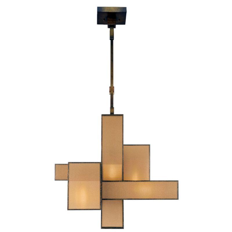 Fine Art Lamps 731840GU Perspectives Five-Light Single-Tier Chandelier