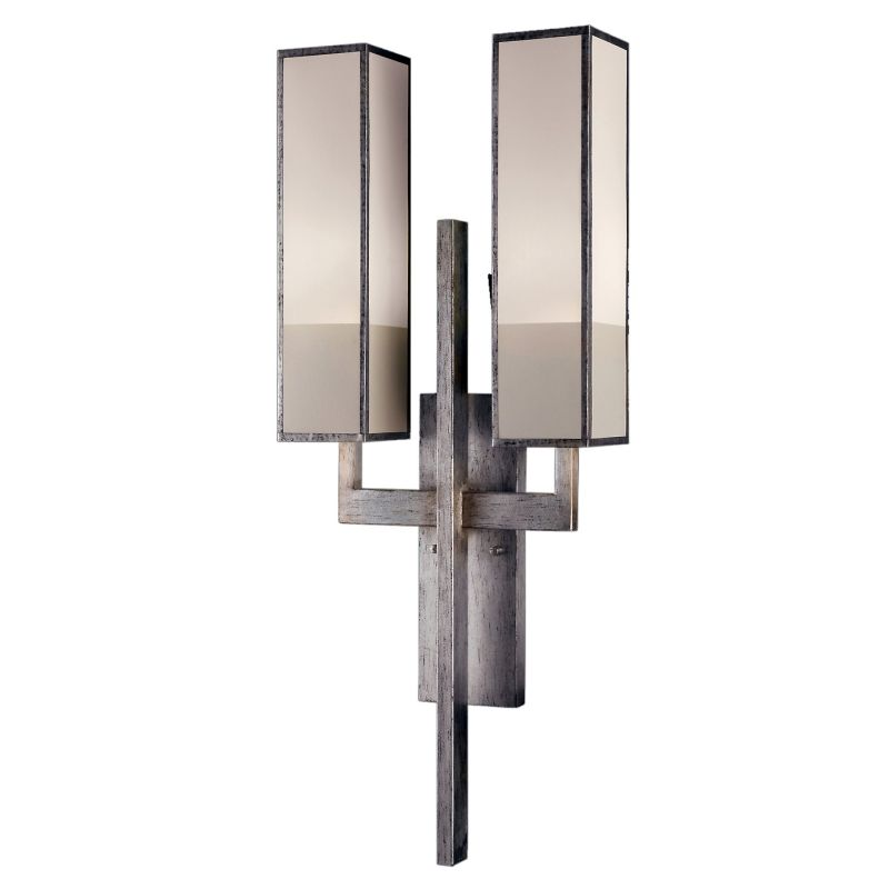 Fine Art Lamps 733050-2GU Perspectives Silver Two-Light Wall Sconce