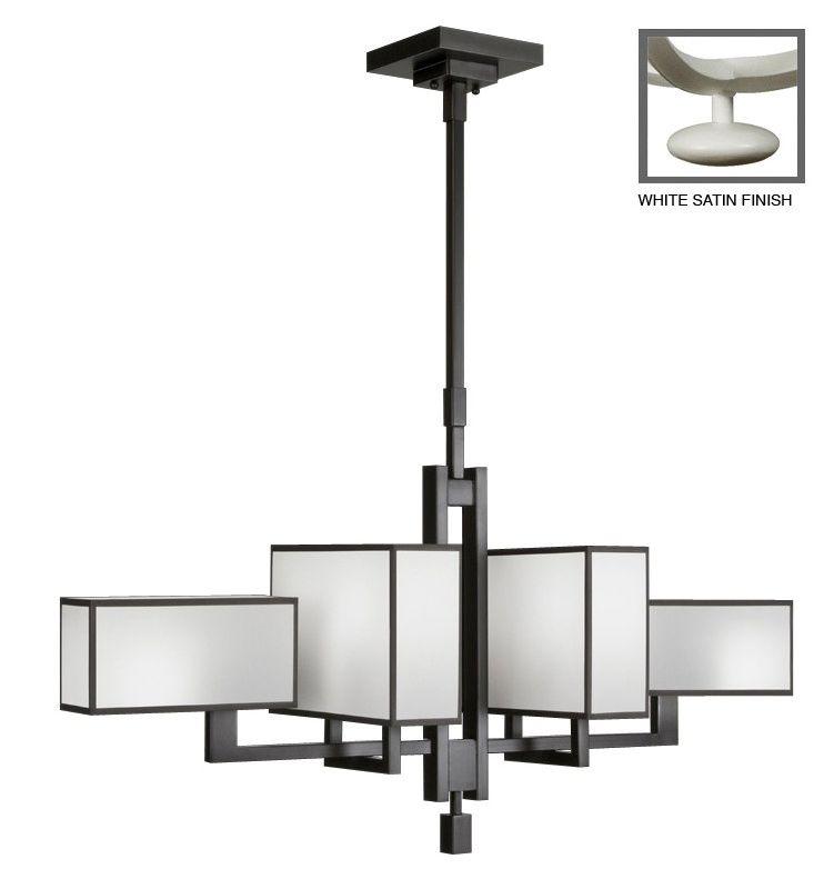 Fine Art Lamps 734040-5ST Black+White Story Six-Light Linear