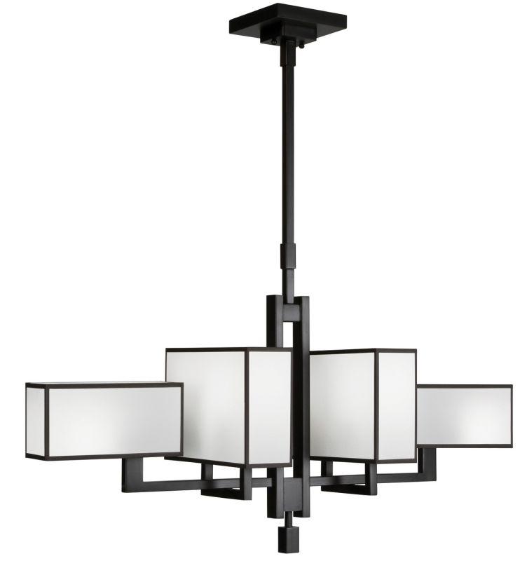 Fine Art Lamps 734040-6ST Black+White Story Six-Light Linear