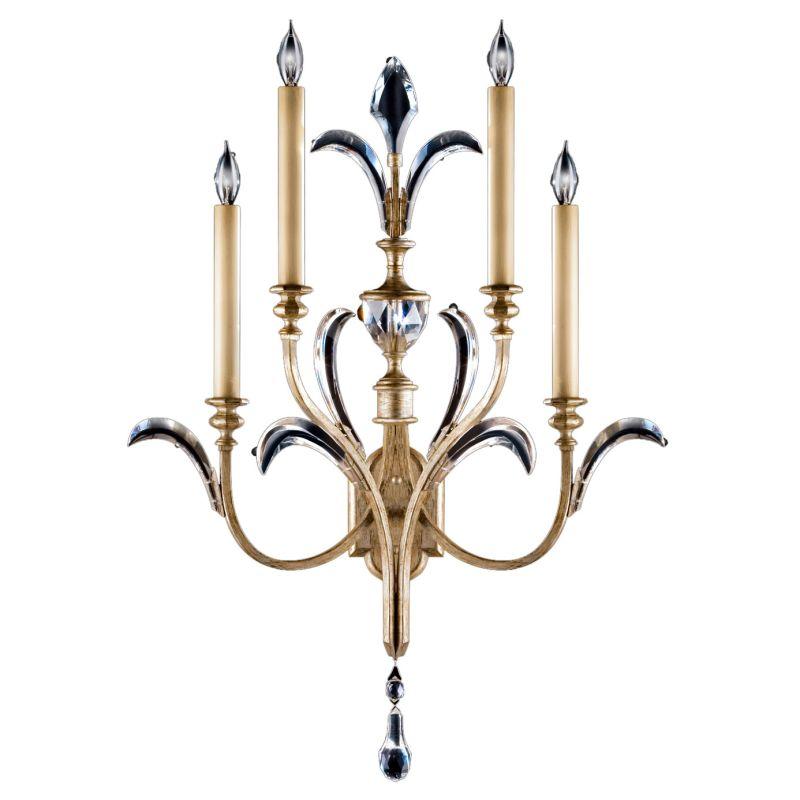 Fine Art Lamps 738650ST Beveled Arcs Four-Light Beveled Crystal Wall