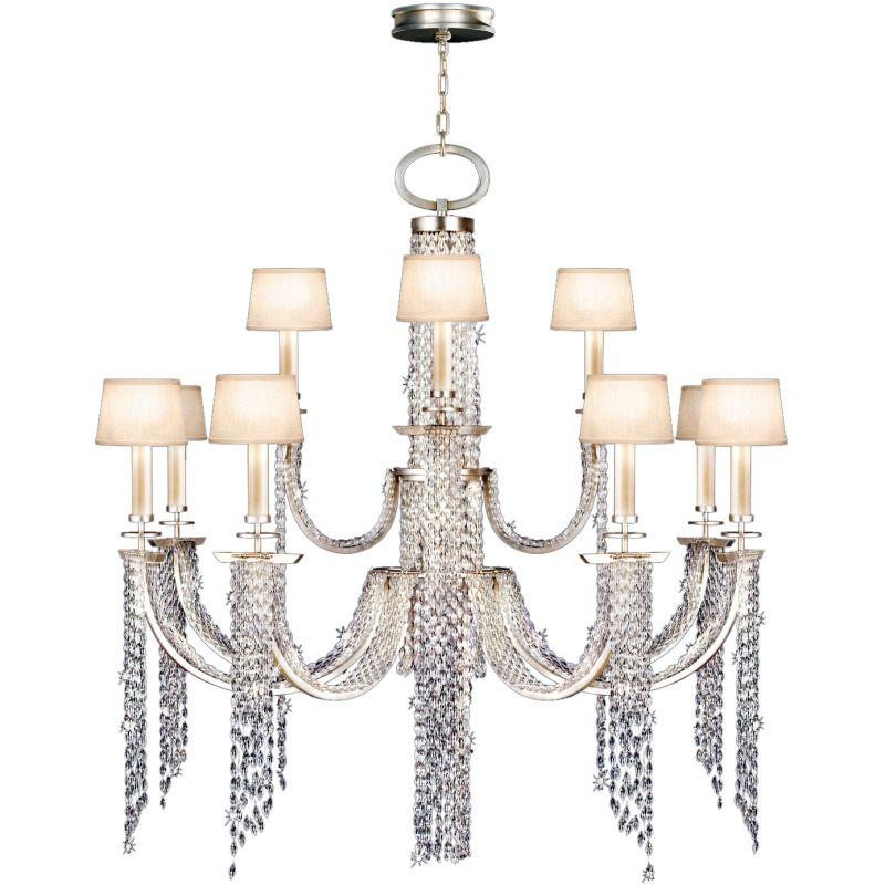 Fine Art Lamps 749040ST Cascades 12+4-Light Two-Tier Chandelier with