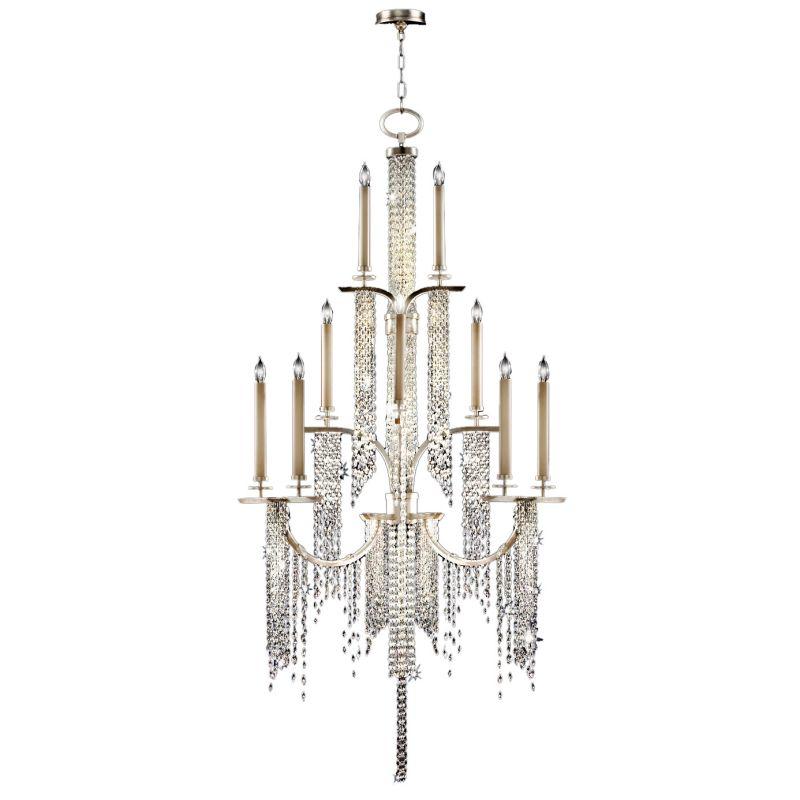 Fine Art Lamps 749640ST Cascades Sixteen-Light Three-Tier Chandelier