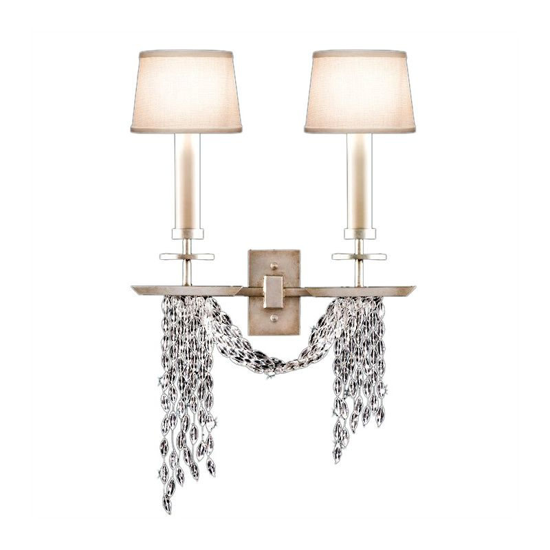 Fine Art Lamps 750450ST Cascades Two-Light Wall Sconce with Delicate