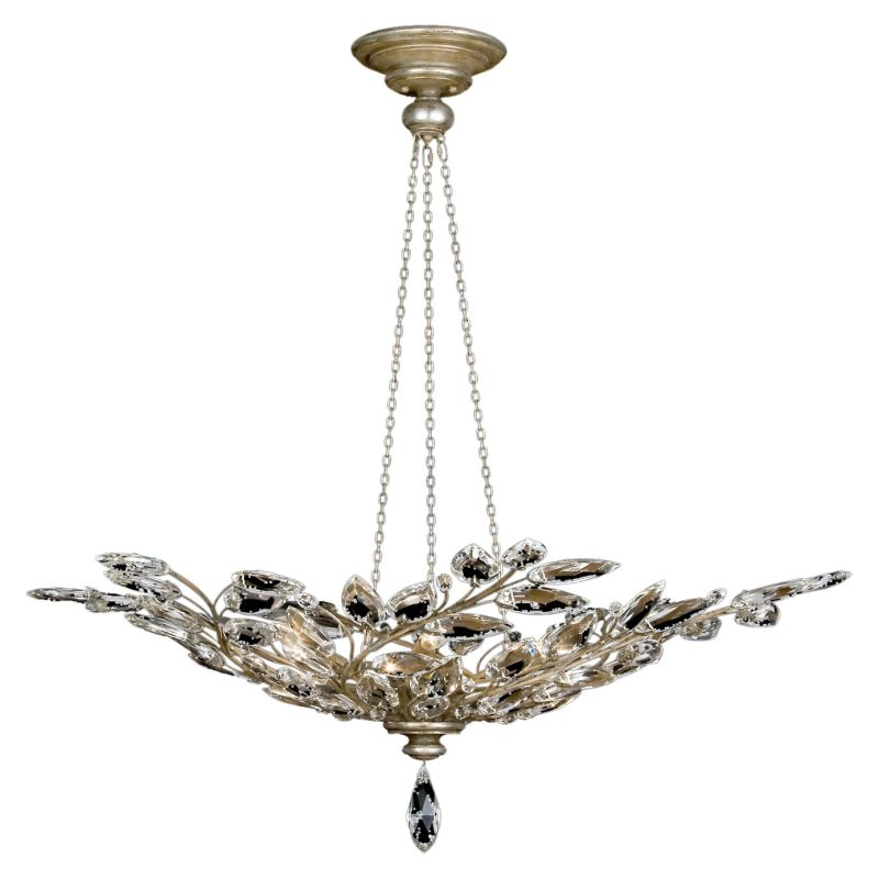 Fine Art Lamps 753740ST Crystal Laurel Six-Light Foyer Pendant with