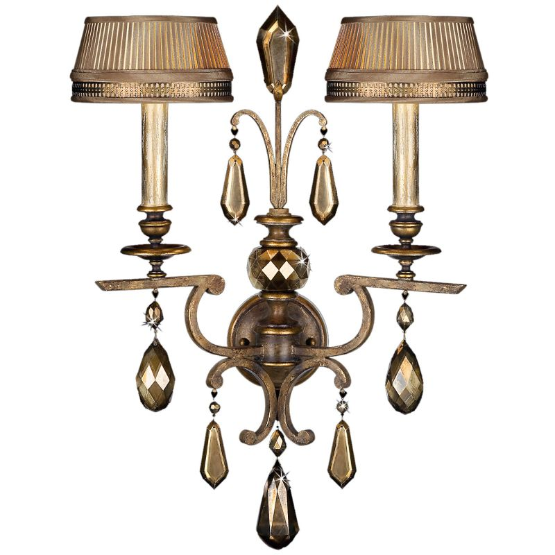 Fine Art Lamps 754550ST Golden Aura Two-Light Wall Sconce with