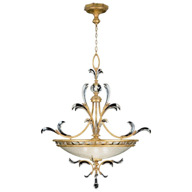 "Fine Art Lamps 761740ST Beveled Arcs Gold 32"" Diameter Three-Light"