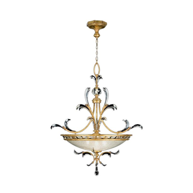 "Fine Art Lamps 762740ST Beveled Arcs Gold 44"" Diameter Three-Light"