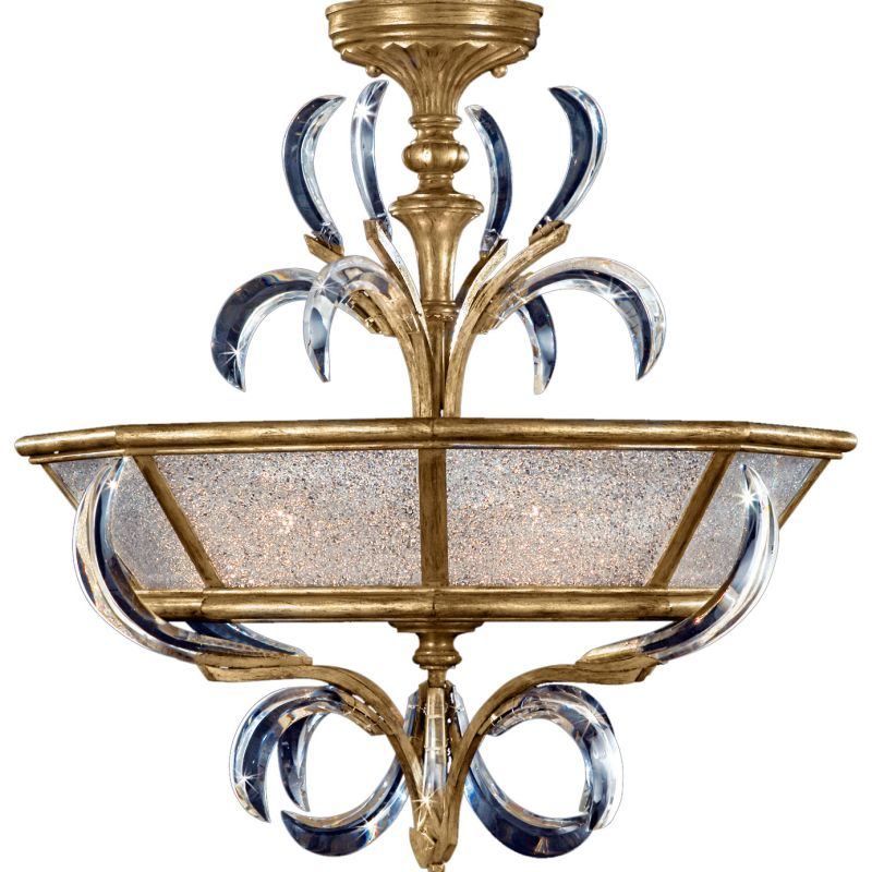 "Fine Art Lamps 767740ST Beveled Arcs Gold 26"" Diameter Three-Light"