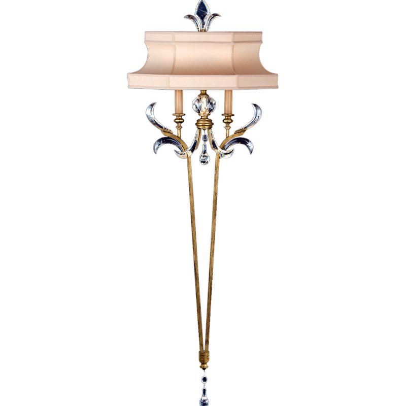 Fine Art Lamps 768450ST Beveled Arcs Gold Two-Light Beveled Crystal