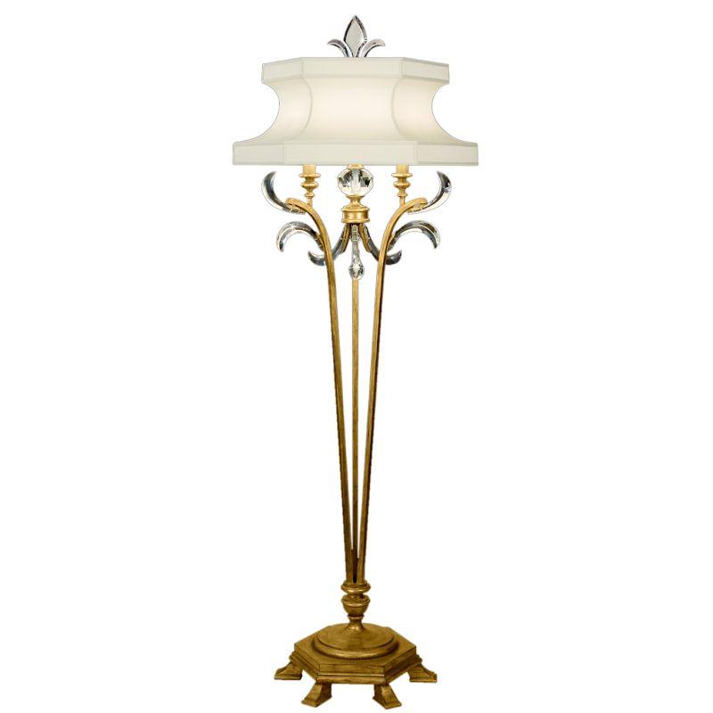 Fine Art Lamps 768620ST Beveled Arcs Gold Single-Light Beveled Crystal
