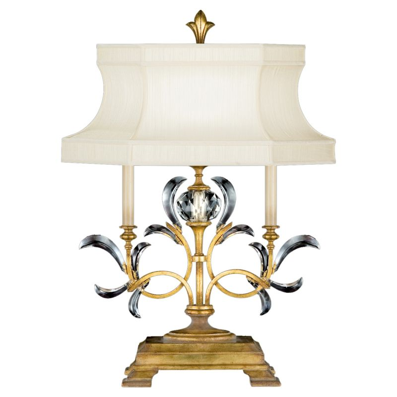 Fine Art Lamps 769110ST Beveled Arcs Gold Single-Light Beveled Crystal