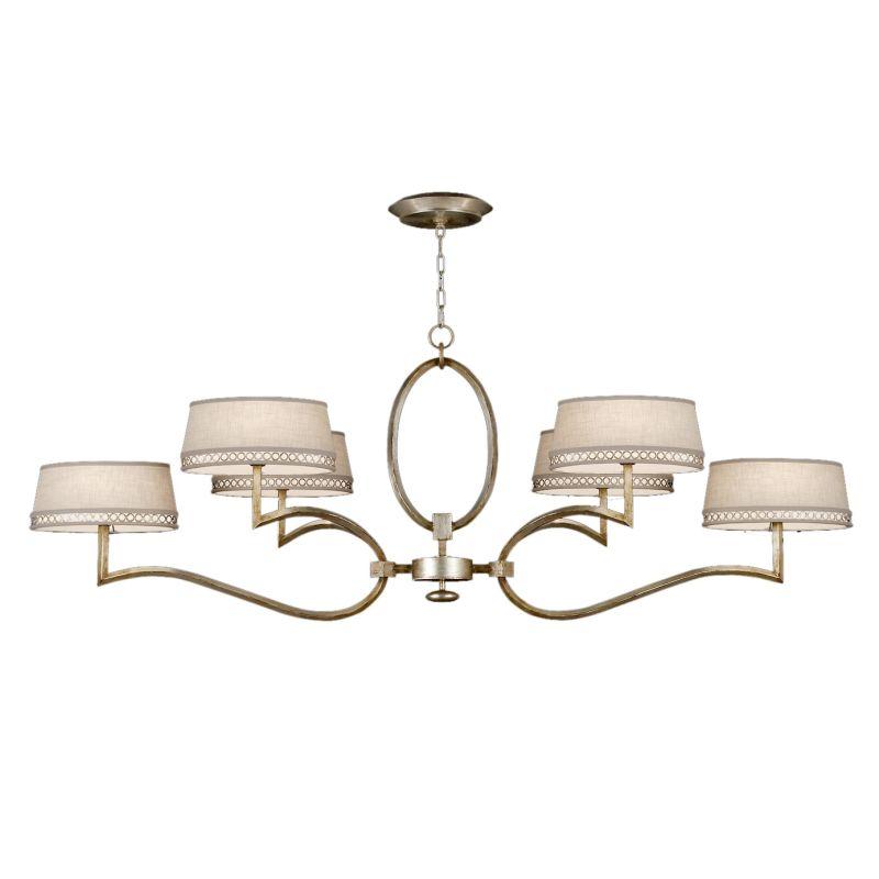 Fine Art Lamps 780040ST Allegretto Silver Six-Light 2 Tier Chandelier