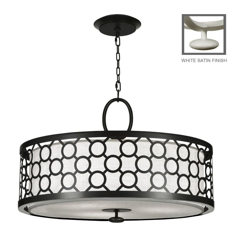 "Fine Art Lamps 780140-5ST Black+White Story 33"" Diameter Three-Light"