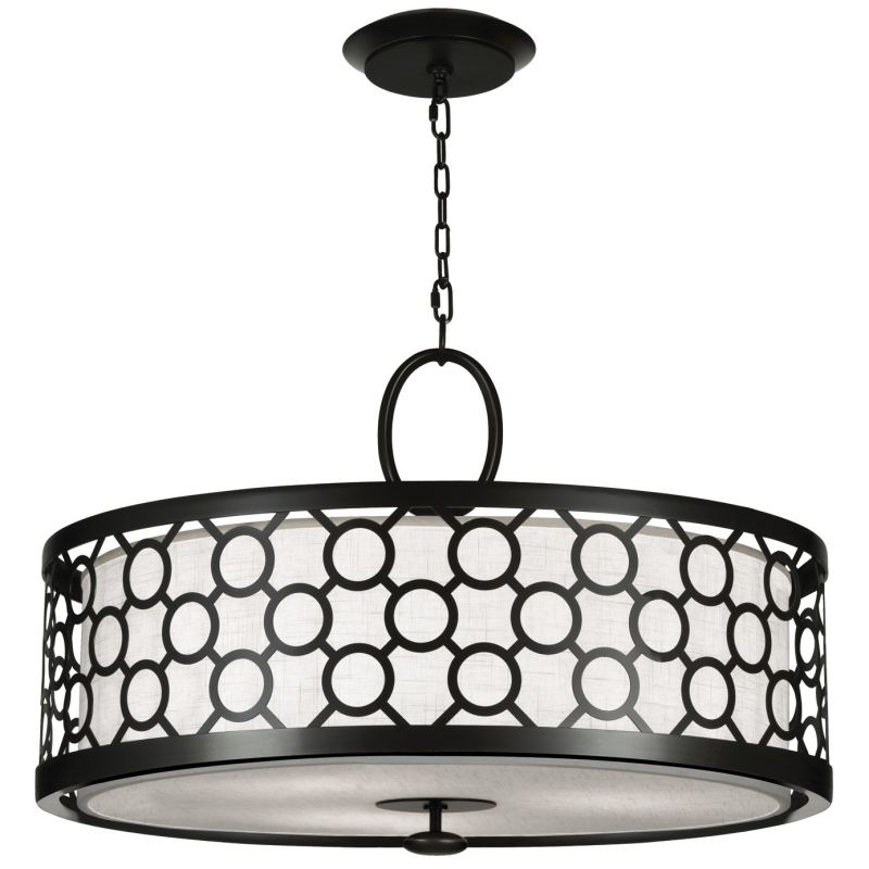 "Fine Art Lamps 780140-6ST Black+White Story 33"" Diameter Three-Light"
