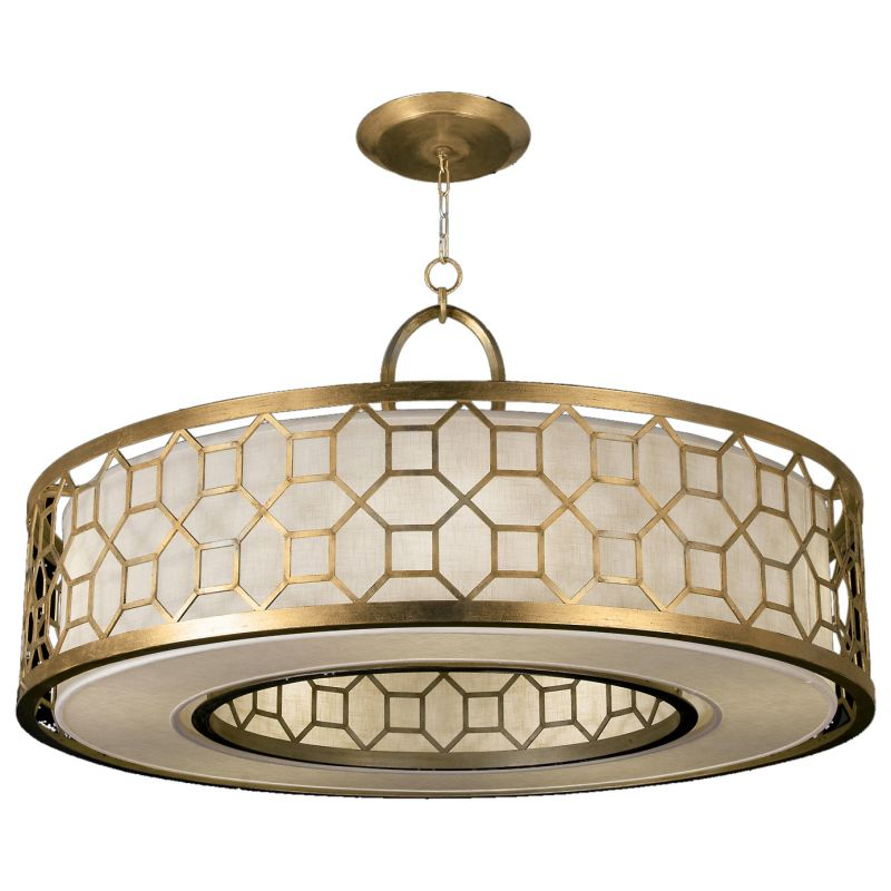 "Fine Art Lamps 780340-2GU Allegretto Gold 48"" Diameter Five-Light Drum"