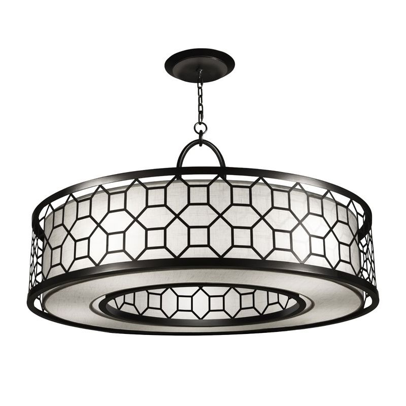 "Fine Art Lamps 780340-6GU Black+White Story 48"" Diameter Five-Light"