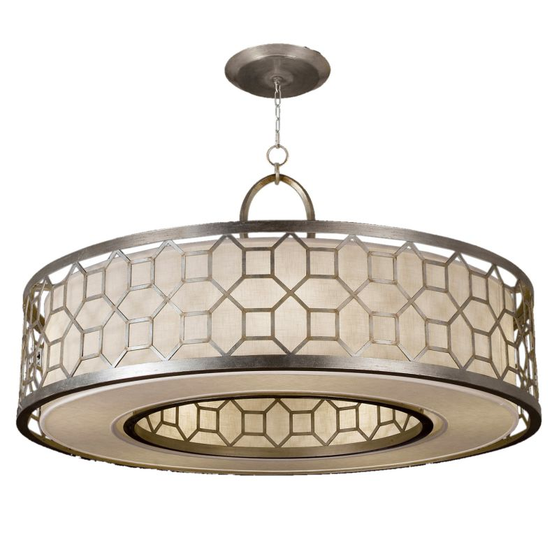 "Fine Art Lamps 780340GU Allegretto Silver 48"" Diameter Five-Light Drum"