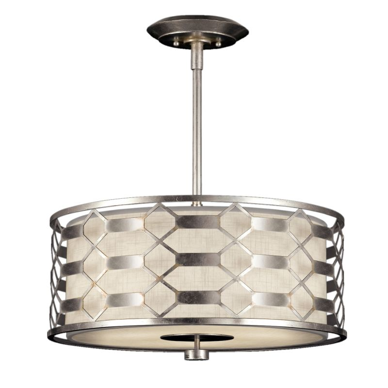 """Fine Art Lamps 787540GU Allegretto Silver 24"""" Diameter Three-Light"""