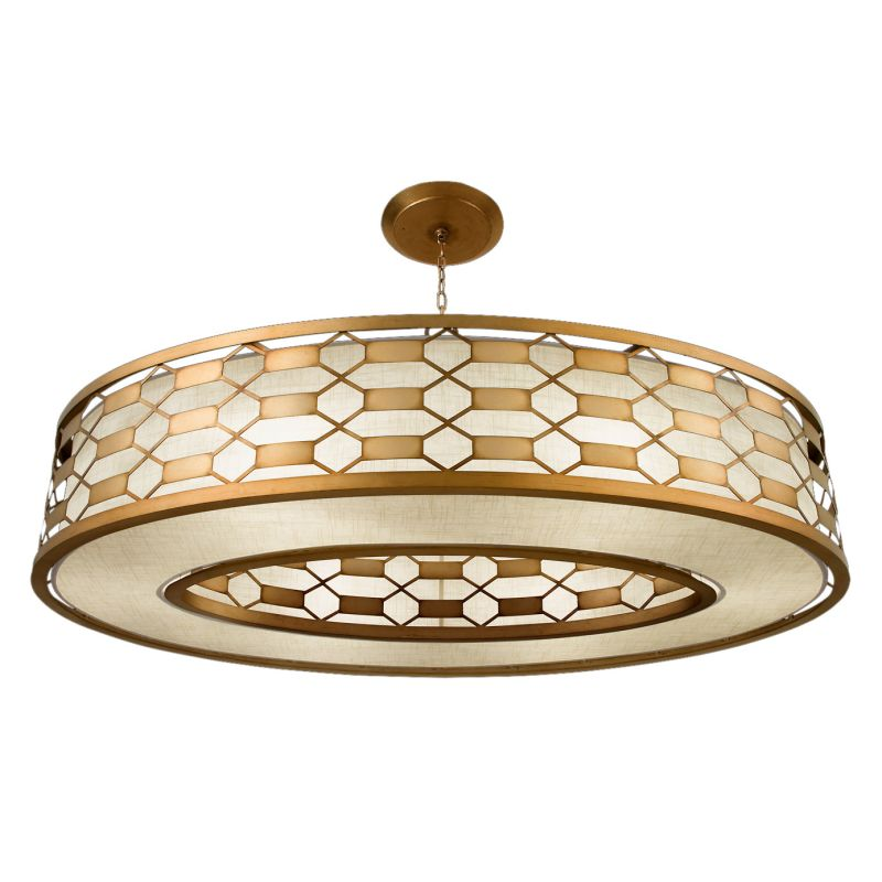 "Fine Art Lamps 787740-2GU Allegretto Gold 57"" Diameter Six-Light Drum"