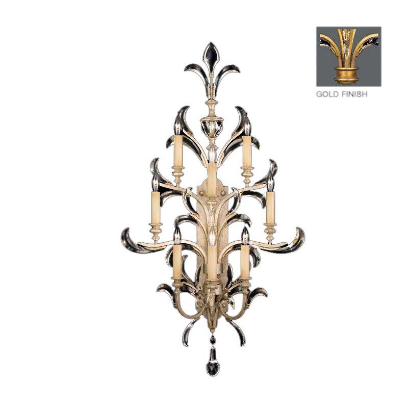 Fine Art Lamps 789350-2ST Beveled Arcs Gold Eight-Light Beveled