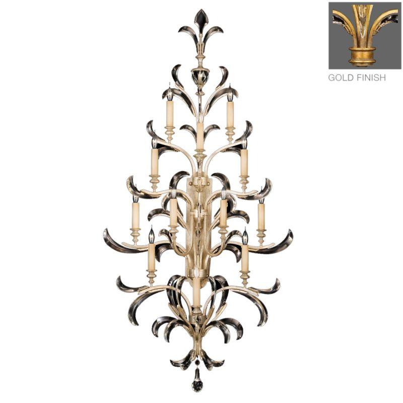 Fine Art Lamps 789450-2ST Beveled Arcs Gold Twelve-Light Beveled