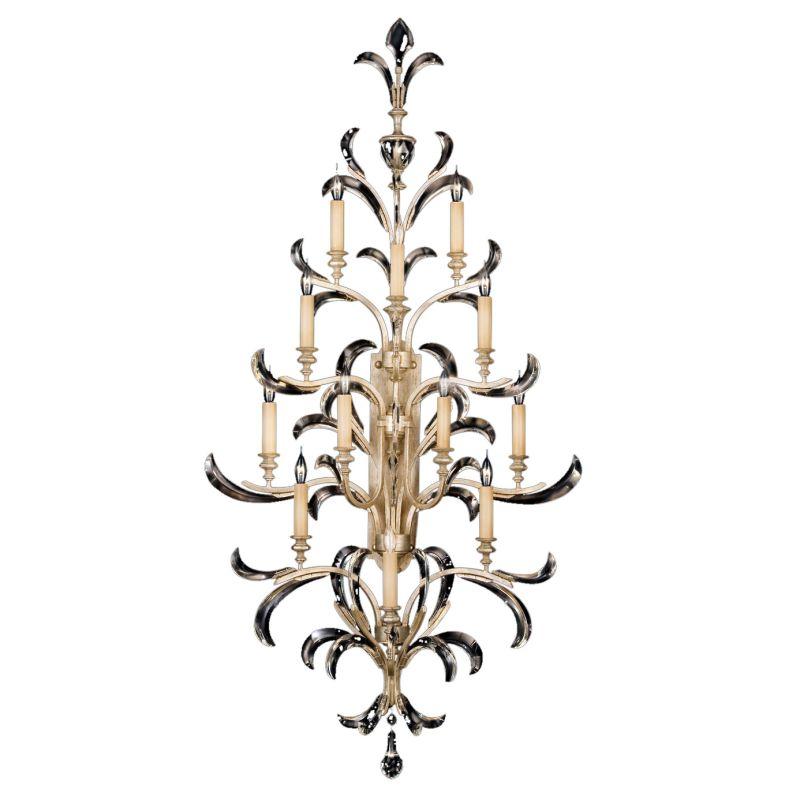 Fine Art Lamps 789450ST Beveled Arcs Twelve-Light Beveled Crystal Wall