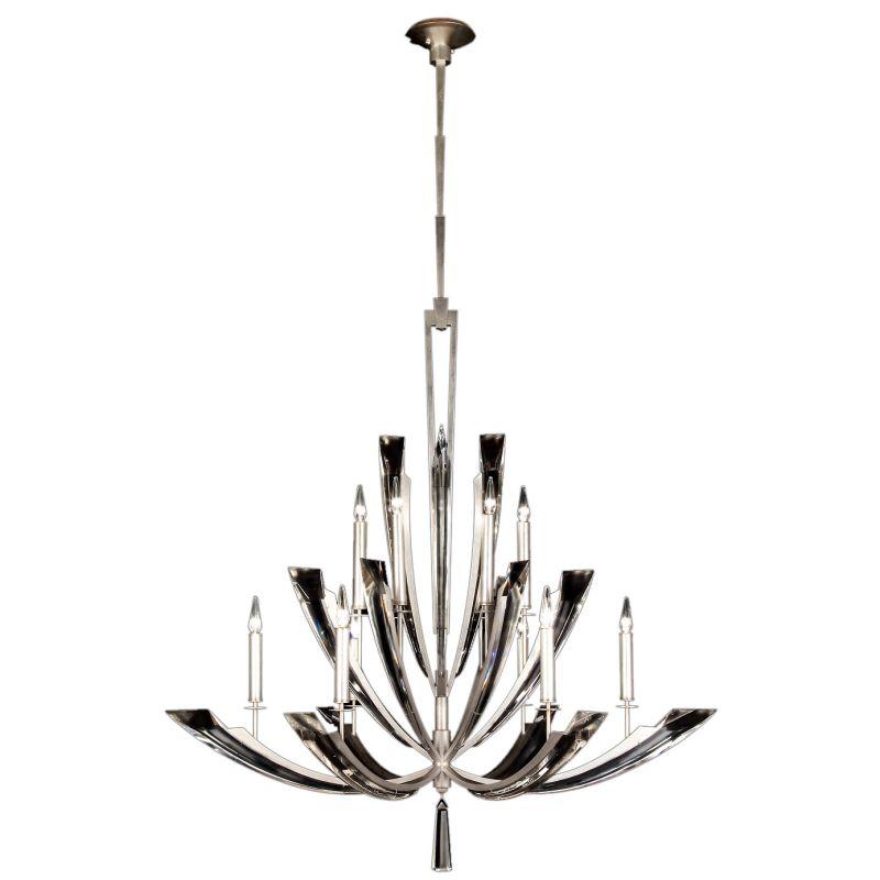 Fine Art Lamps 789840ST Vol de Cristal Twelve-Light Two-Tier