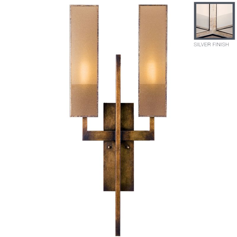 Fine Art Lamps 789950-2GU Perspectives Silver Two-Light Wall Sconce Sale $2089.50 ITEM#: 2258639 MODEL# :789950-2GU :