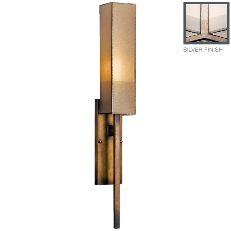 Fine Art Lamps 790050-2GU Perspectives Silver Single-Light Wall Sconce