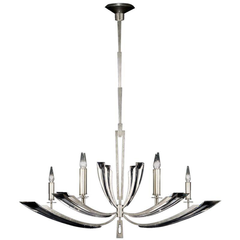 Fine Art Lamps 797440ST Vol de Cristal Six-Light Two-Tier Chandelier