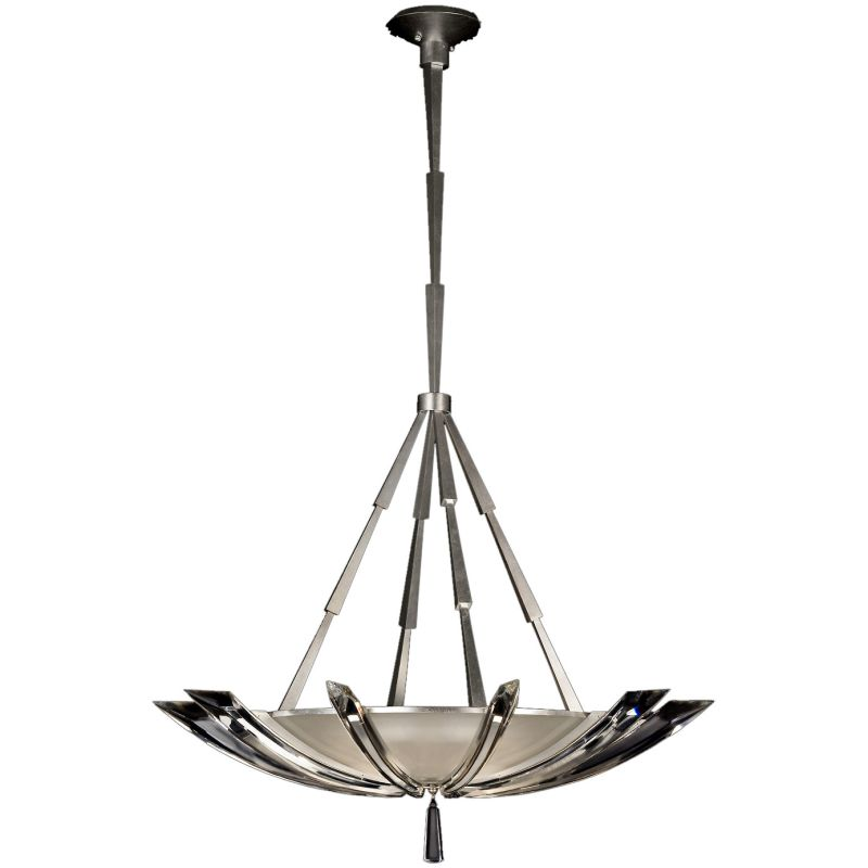 "Fine Art Lamps 799140ST Vol de Cristal 39"" Diameter Three-Light Bowl"